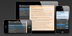Just Type aplicación de notas para iOS