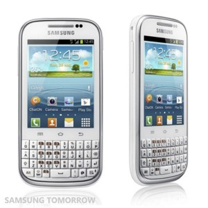 Samsung Galaxy Chat screns