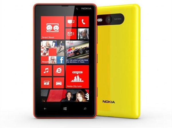 Nokia Lumia 820 screens