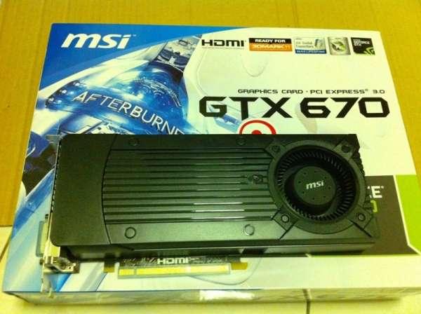tarjeta gráfica NVidia GTX 670