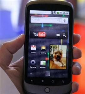 Nexus One con sistema operativo Android
