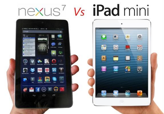 fotos iPad Mini y Nexus 7
