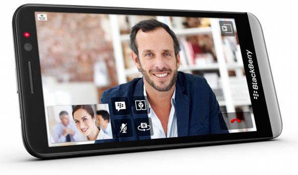 BlackBerry Z30 screens