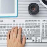 Un teclado con tinta electrónica para cambiar las teclas